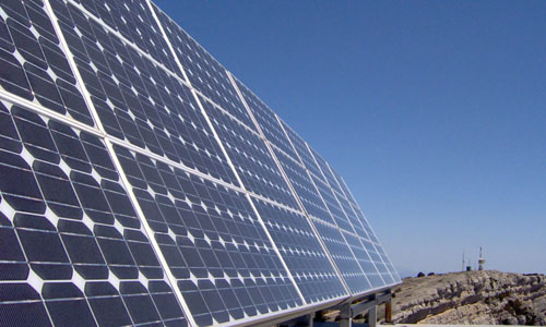 A picture of a solar panel
